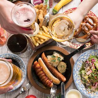 ビールと相性抜群のおつまみから世界各国の名物料理をご提供!