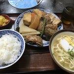 大衆食堂ミルク - ソーキ定食 沖縄そば付き