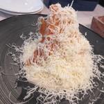 俺のフレンチ 博多 - 【トリュフと4種のチーズのリゾット はちみつのチュイル添え 980円】