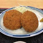 平和食堂 - ワンコインランチ メンチカツ定食 500円