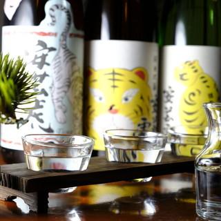 料理の味わいを引きたててくれる『こだわりの日本酒・焼酎』
