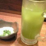 魚がし日本一 - 緑茶ハイ