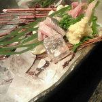 魚がし日本一 - 鰯のお造り