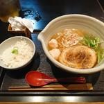 87900613 - 銀笹ラーメン(白醤油)+半鯛めし