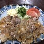 なみき食堂 - 豚肉の生姜焼き マヨネーズ付け足し