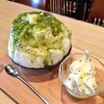 柿の葉ずし 平宗 - Wキウイ氷