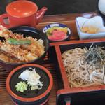 玉藻 - 料理写真:セットメニュー(ざるそば+ミニ天丼)¥1,058