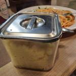 葉゚す多家 - 粉チーズの容器