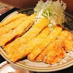 丸安食堂 - 山原豚 とんかつ定食(700円):カツ部