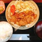 丸安食堂 - 米国産 牛焼肉定食(800円)
