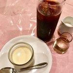 味のレストラン えびすや - プリン&アイスコーヒー
