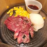 北新地 熟成肉 Bacco Aging bar - 牛ロースレアステーキランチ
