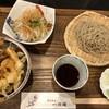 手打そば 一の梅 - 料理写真:◆かきあげ丼セット(1080円:税込)・・かき揚げ丼・せいろ(半量)・大根サラダなどのセット。