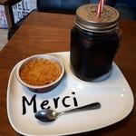 アトリエドガトー - 料理写真:メープルクレームブリュレ(352円)+アイスコーヒー(100円)