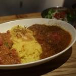 レインボウスパイス カフェチャイストール - ダブルカリー(チキンと野菜)