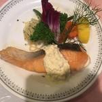 87925839 - 生鮭のバター焼き