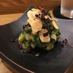 鮨 おくの - 春蝦蛄の黄身酢和え