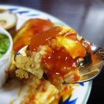 北極星 - チキンオムライス 食べる