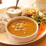 cafe0371 - 料理写真:豆カレーセット