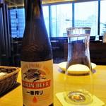 87932272 - 乾杯は、キリン一番搾り or チェリービアー をチョイスできました。全部で 16種類の 生ビールを飲むことができます。     2019.06.18
