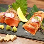 鮭バル SalmonBear - 20180620紅鮭2種(刺身、塩たたき)