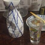 いかり亭 - 清酒常温で