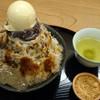 雀おどり總本店 - 料理写真:大島金時ミルククリームわらびきな粉氷