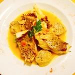 ビストリア 魚タリアン - 真鯛のグリル パプリカ風味 真イカの温かいパテを添えて