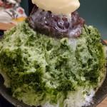 雀おどり總本店 - 宇治金時ミルクリームわらび氷