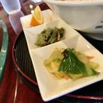 中国料理 甜甜酒楼 - 四川胡麻坦々刀削麺のセット