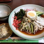 そば処小田 - 冷山菜 800円