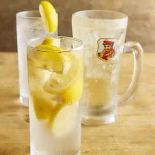 いま大流行のレモンサワーを10種ご用意