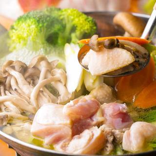 平日限定!!「九州地鶏の鍋食べ放題コース」2,500円