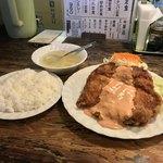 鳥心 - 鳥心(高知市南川添)チキンナンバン定食950円