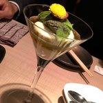 宮崎とれたて居酒屋 狐福 - アボカドと胡麻豆腐の生のりソース