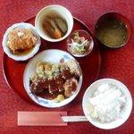 8795550 - 大豆と和風創作料理「田舎」(でんじゃ)お昼ごはんBセット1,200円三元豚の香草焼