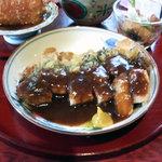 8795551 - 大豆と和風創作料理「田舎」(でんじゃ)お昼ごはんBセット三元豚の香草焼主菜