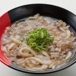 伊予製麺 - 大阪名物かすうどん(並) 410円