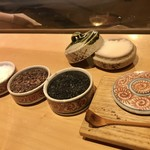 天麩羅 吉祥 - 世界の塩4種