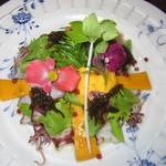 西洋膳所 やすなが - 2018年の「スタンダードコース」ミズダコとホタルイカのカルパッチョ