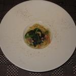 西洋膳所 やすなが - 2018年の「スタンダードコース」ホタルイカとサクラエビのリングィーネ