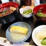 うなぎ料理・なべ料理専門 松田 - ダシ巻やお吸い物も付いてます