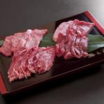 丑舎 格之進 - 牛肉食べ比べセット(3〜4名様)