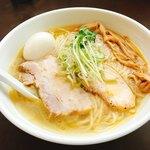 麺屋 心羽 - 鶏塩拉麺大盛+味玉