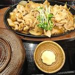87961186 - 豚生姜焼き定食 肉大盛
