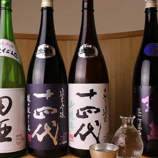 ◇厳選日本酒◇希少銘柄から気軽に楽しめる物まで。幅広くご用意