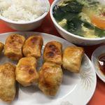 87964384 - 餃子 卵スープ ライス