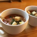ワイン食堂 ぶんがらや - 冷製トマトスープ