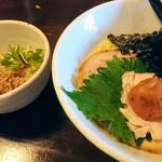 87969415 - 梅海苔しおらーめん+ミニチャーシュー丼