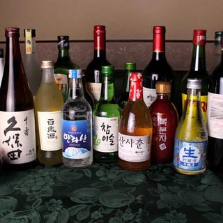 """珍しい韓国酒もご用意◎鹿児島産芋焼酎""""酔神の心""""ございます!"""